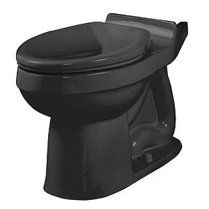 American Standard 3121.016.178 Champion Elongated Seatless Toilet Bowl, Black (Bowl Only)