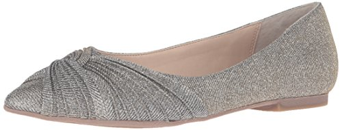 Nina Women's Klaire-Yy Pointed Toe Flat, Steel Luna Shine, 7.5 M US