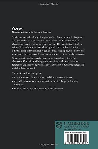 Stories Paperback: Narrative Activities for the Language Classroom (Cambridge Handbooks for Language Teachers)
