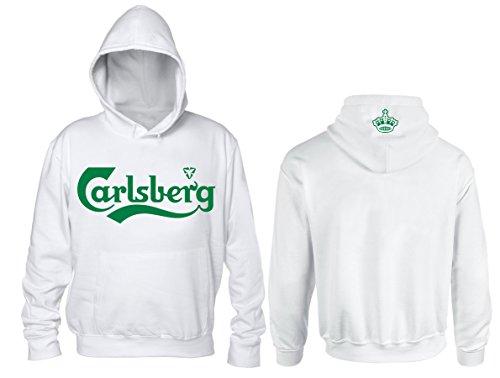 Felpa Carlsberg Unofficial (L, Bianco)