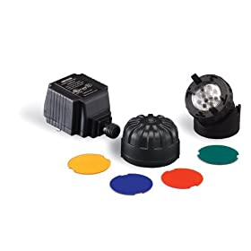 Sunterra 300209 Submersible Light for Water Gardens and Ponds, Black