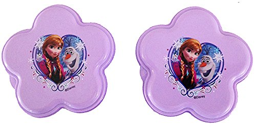 Zak! Disney Frozen Flower Shaped Snack Container - Set of 2 (BPA Free)