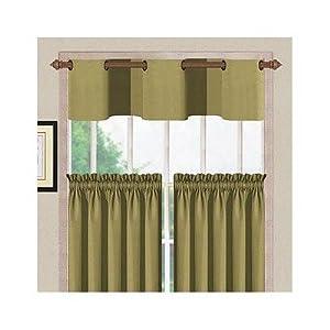 Cambridge Kitchen Curtain Set In Light Green Window Treatment Curtains