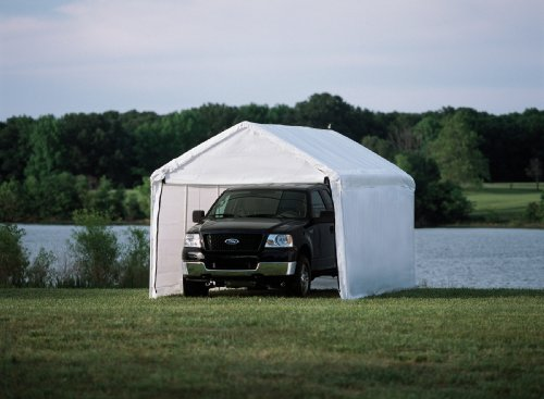 ShelterLogic 10 x 20- Feet Canopy Enclosure Kit, Fits 2- Inch Frame, White (Side Panels Only Shelter Accessory)