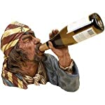 Woodland Imports Pirate Captain Wine Bottle Holder