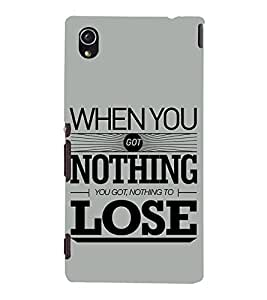Nothing To Lose 3D Hard Polycarbonate Designer Back Case Cover for Sony Xperia M4 Aqua :: Sony Xperia M4 Aqua Dual
