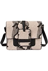 Mellow World Amazon, Women's Beautiful Unique Snake Print Crossbody Handbag