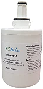 EcoAqua EFF6011A2PK Compatible Refrigerator Water Filter for Samsung, 2-Pack