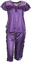 O Dear Women's Nightwear (Purple, SF-117-NW)