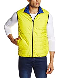 Lee Mens Synthetic Jacket (8907222308087_LEJK1170_M_Yellow and Blue)