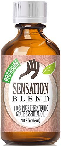 Sensation Blend 100% Pure, Best Therapeutic Grade Essential Oil - 60ml / 2 (oz) Ounces - Comparable to Young Livings Sensation - French Lavender, Ylang Ylang, Bergamot, Jasmine, Egyptian Geranium, Coriander