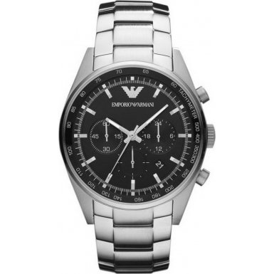 Emporio Armani AR5980 Mens Sportivo Chronograph Silver Watch