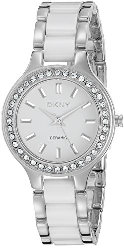 DKNY NY8139 - Reloj para mujeres, correa de cerámica