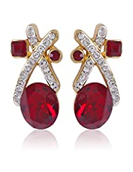 Estelle Gold And Silver Plated Drop Earring With Crystals (490/725)