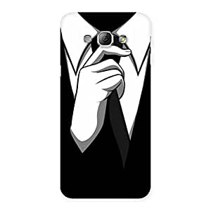 Special Knotting Tie Multicolor Back Case Cover for Galaxy A8