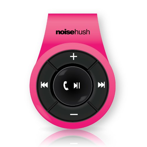 Noisehush Ns560-11980 Noisehush Ns560 Clip-On Bluetooth Stereo Headset - Pink - Belt Clip - Retail Packaging - Pink