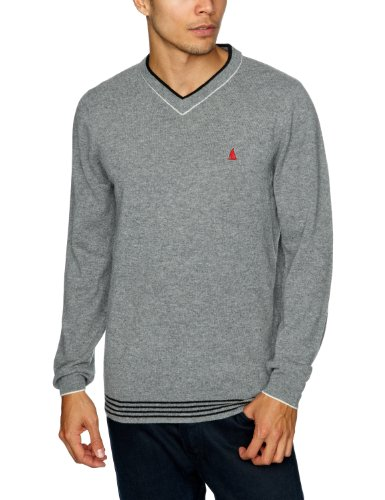 Musto Kamini V Neck Men's Jumper Shale Small