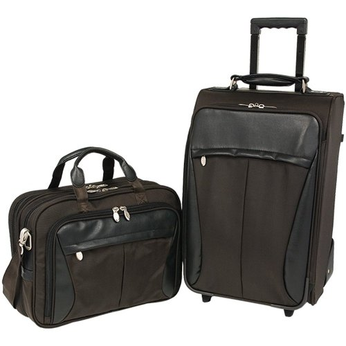 Mckleinusa Buckingham 58464 P Series Tech-Lite 1680D Ballistic Nylon Executive Travel Combo (Brown)