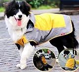 雨 雪の日もお散歩 愛犬レインコート 中型犬用 カラー/イエローグレー