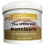 41bjqTkaxHL. SL160  The Ultimate Monolaurin   21 OZ. ECONOMY SIZE: An extra 7 oz free! 1 tsp = 3,000 mg. (21 oz is equivalent to 22 bottles of the 300 mg capsules!)