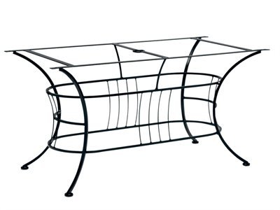 Woodard Easton Wrought Iron Dining Patio Table Base Only