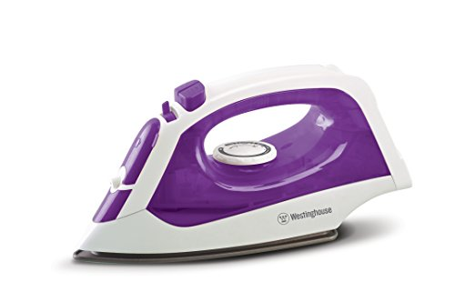 Westinghouse Pro-Series Steam Iron with 5-Ounce Water Tank, 1200 watts, 3-Way Auto-Off Safety Function, White with Purple Accents