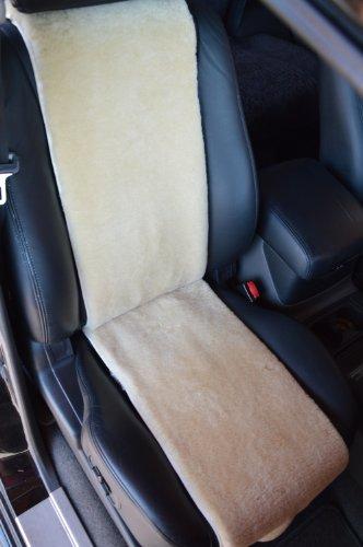 Autositz-Auflage aus Lammfell für Ledersitze 30cm Breite (Sekt) Direkt vom Hersteller