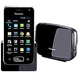 Panasonic KX-PRX150GB Festnetz- und Mobiltelefon in Einem (DECT- und 3G-Funktion, mit Touchscreen, 3,5 Zoll TFT-Farbdisplay, Android 4.0, Anrufbeantworter, Wi-Fi, Bluetooth) schwarz