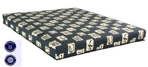 Bonell Federkern Matratze 90×200 cm Asia grau 100 % Baumwolle