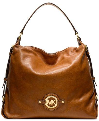 Michael Kors Stockard Large Shoulder Bag Walnut Brown
