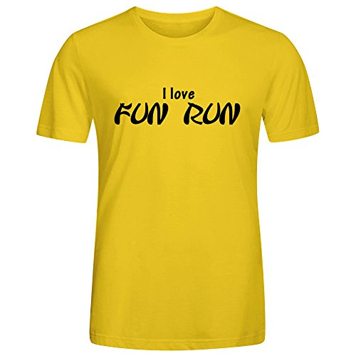 Funky O-Neck Fans T Shirt-Fun Run Yellow (Wendy Adams Family)