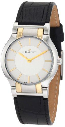 Pierre Petit P-799C - Reloj analógico de cuarzo para mujer con correa de piel, color negro