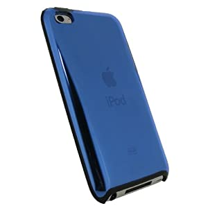 iGadgitz Blue & Black Gel (Thermoplastic Polyurethane TPU) & Hard Case Cover for Apple iPod Touch 4th Generation 8gb, 32gb, 64gb + Screen Protector
