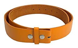 JTC Belts Faux Leather Belt For Buckles Many Colors. Orange. Small