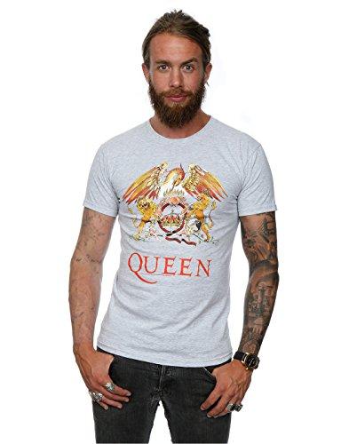 queen-uomo-crest-logo-maglietta-x-large-heather-grey
