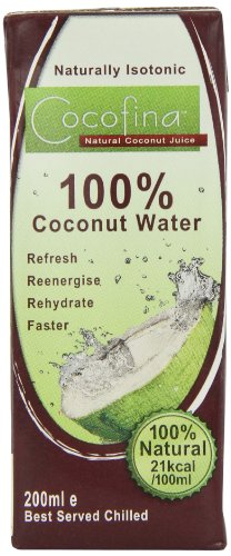 Cocofina 100 Percent Coconut Water 200ml (Pack of 12)