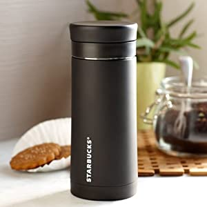 Amazon Com Starbucks Stainless Steel Travel Press Black 10 Oz French Presses Kitchen Amp Dining