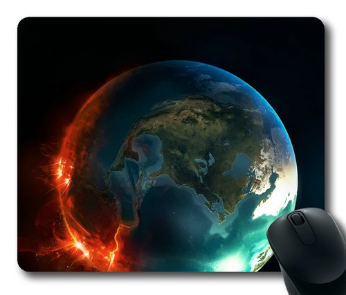 Earth In Fire Rectangle Mouse Pad By Sakuraelieechyan front-1012295