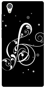 The Racoon Grip printed designer hard back mobile phone case cover for Vivo Y51. (Black Musi)