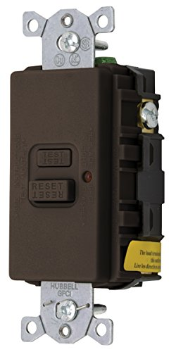 Bryant Electric Gfbf20La 20-Amp 125-Volt Led Indicator With Faceless Gfci Receptacle, Brown