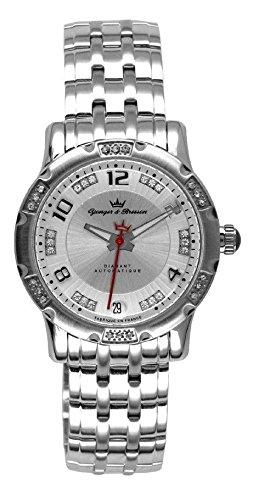 Yonger & Bresson Women's YBD 9196-02 M Silver dial watch.