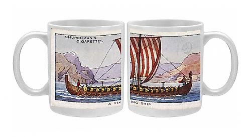 Photo Mug Of Viking Ships 9/10C Cig From Mary Evans
