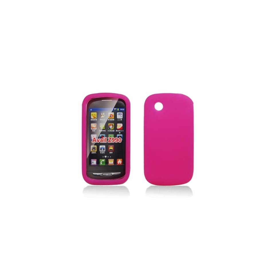 For AT&T Zte Avail Z990 Accessory   Pink Silicon Skin Gel Case Proctor Cover + Free Lf Stylus Pen Cell Phones & Accessories