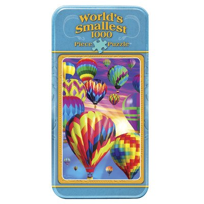 MasterPieces World's Smallest Tin Above The World Jigsaw Puzzle, 1000-Piece