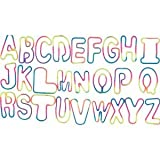 Rainbow Tie-Dye Alphabet Shaped Rubber Bands 26 Piece Pack In BRIGHT Rainbow/TyeDye COLORS + Free