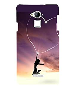 printtech Heart Light Girl Back Case Cover for Coolpad Note 3 Lite Dual SIM with dual-SIM card slots