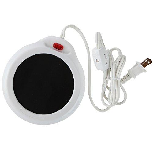 Home-X Mug Warmer, Desktop Heated Coffee & Tea - Candle & Wax Warmer (White) (Coffee Plate Warmer compare prices)