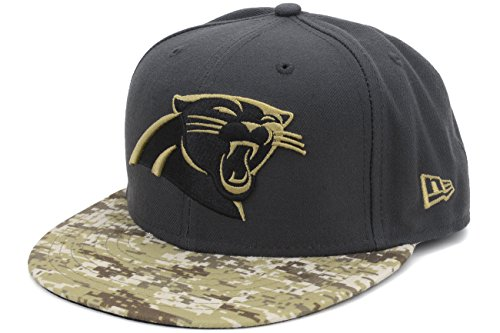 New Era Cap Co,. Inc. Men's 11298285, Charcoal, 7.5 (Salute To Service Panthers compare prices)