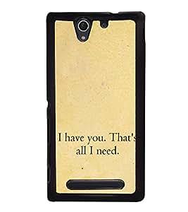 Love Quote 2D Hard Polycarbonate Designer Back Case Cover for Sony Xperia C4 Dual :: Sony Xperia C4 Dual E5333 E5343 E5363
