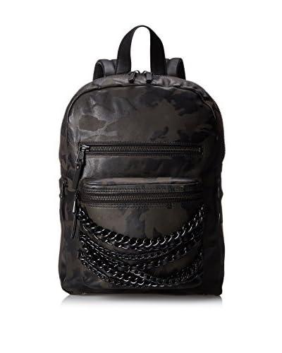 ASH Women's Camo Domino Small Backpack, Black Camo